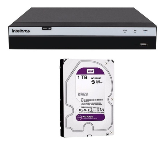 Dvr Segurança Intelbras Mhdx 3104 4 Canais Full Hd 1080p 1tb