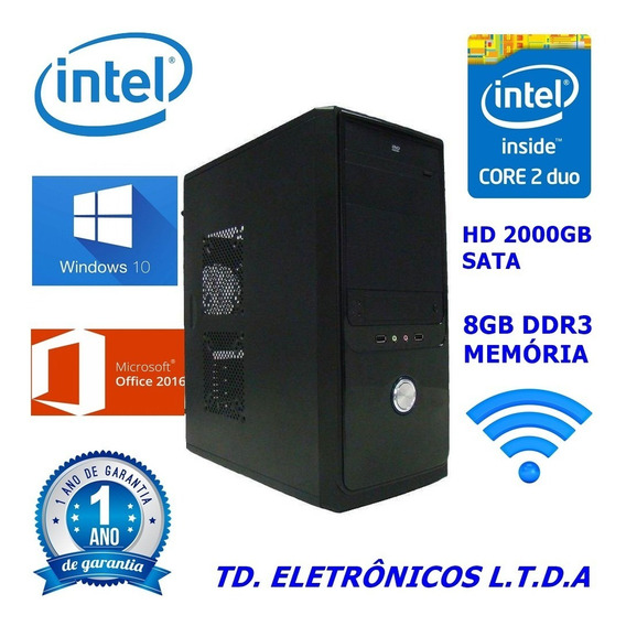 Cpu Completa Core2duo /8gb Ddr3 /hd 2 Tera /wifi