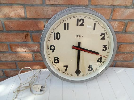 T-antiguo Reloj De Pared Electrico 220v. Funcionando 41 Diam