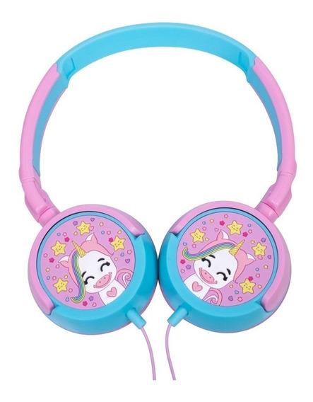 Fone De Ouvido P/ Criança Headphone Unicórnio Rosa Infantil