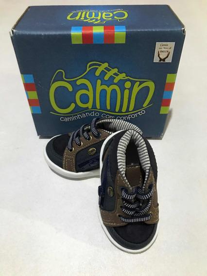 Tênis Infantil Cano Alto, Marinho Camin