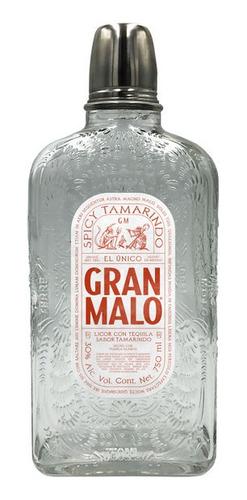 Imagen 1 de 10 de Licor De Tequila Gran Malo Spicy Tamarido 750ml