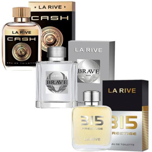 Kit 3 Perfumes Cash, Brave, 315 Prestige La Rive M