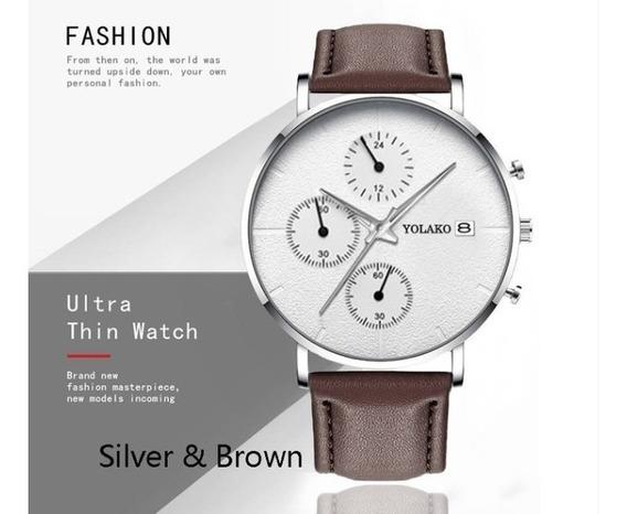 Relógio De Luxo Quartzo Estilo Moda E Casual Masculino