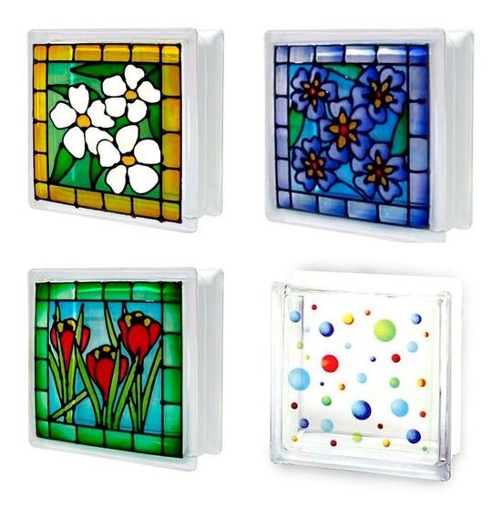 Ladrillos De Vidrio Bonart Diseños Unicos Importados Colores Varios Pisos Y Revestimientos Para Construccion