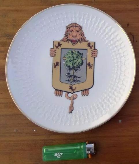 Plato Porcelana Escudo De Armas España