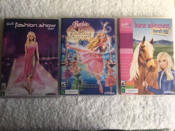 3 Pc-cd Rom Boneca Barbie (frete Grátis)