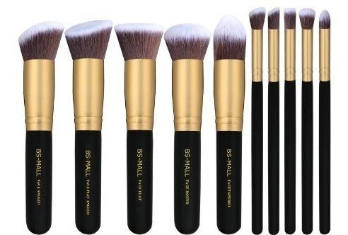 Set 10 Brochas Kabuki Maquillaje Bsmall Pinceles Imp. Usa