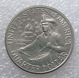 Moneda Estados Unidos Washington Quarter Bicente 1776-1976 D