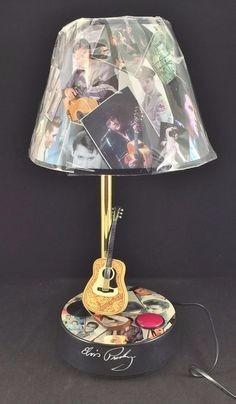 Elvis Presley Guitarra Lampara Con Sonigo