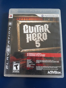Jogo Guitar Hero 5 Ps3 Original Com Manual