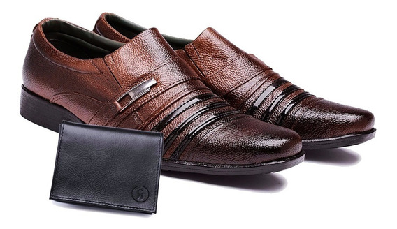 Sapato Masculino Social Casual Barato + Carteira Couro