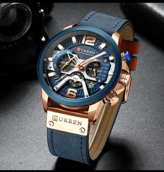 Relógio Masculino Original Curren Esporte Luxo Couro