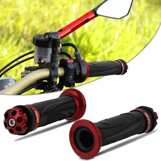 Manopla Moto Esportiva Cb300 Xre300 Twister 250 Vermelha