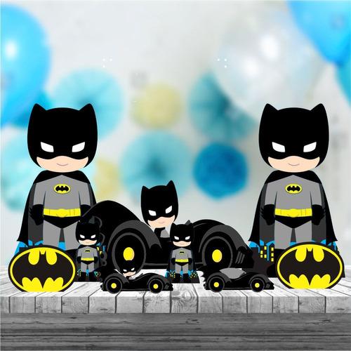 Imagem 1 de 4 de Kit 9 Batman Cute Decoração Totem Display Festa Mdf 88cm