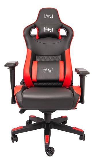 Cadeira Gamer Tarct, Preto/vermelho, Tct-9863