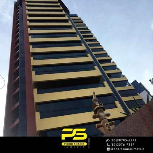 ( M O B I L I A D O ) Apartamento Com 4 Dormitórios À Venda, 296 M² Por R$ 980.000 - Manaíra - João Pessoa/pb - Ap3169