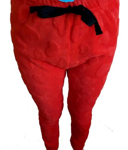 Pantalon Polar Soft Mujer Invierno Pijama Cozy Corazones