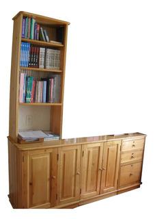 Biblioteca Mesa Estudio Oficina Hogar Mueble Madera Pino