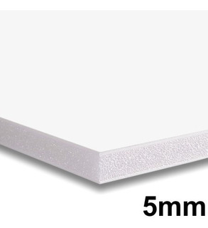 4x Placa Foam Board 35x50 Branco 5mm Contracole Papel Pluma