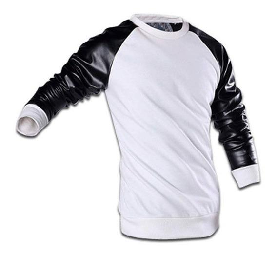 Camiseta Couro Manga Longa Stecchi Fabricação Própria