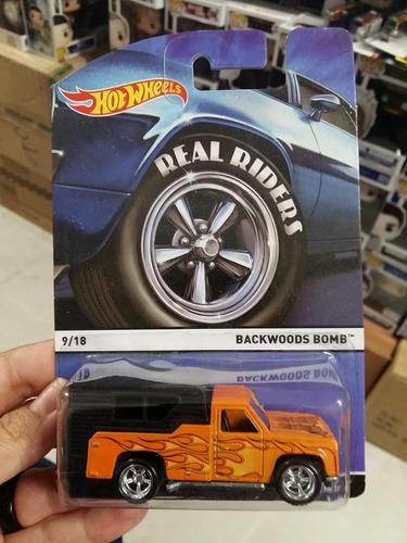 Hot Wheels Real Riders Backwoods Bomb 1:64 Naranja Flamas