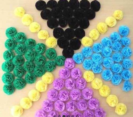 50 Flores De Papel De 5 Cm