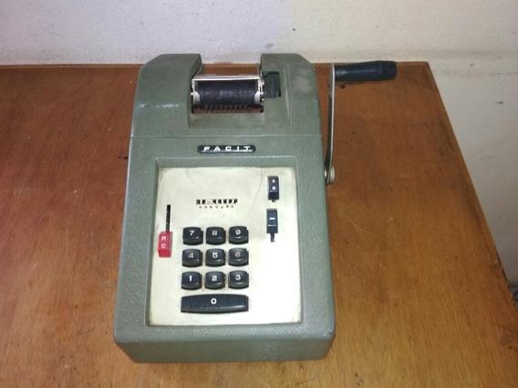 Calculadora Facit A Manivela - Leia O Anuncio