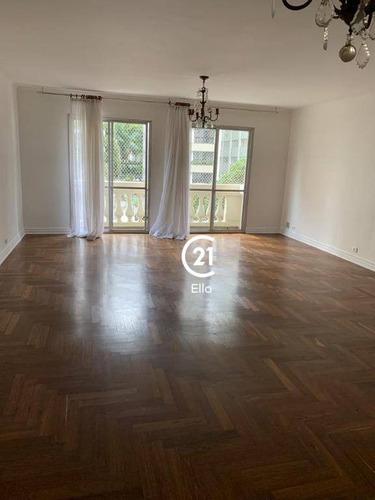 Apartamento Com 4 Dormitórios Para Alugar, 180 M² Por R$ 6.800,00/mês - Jardim Paulista - São Paulo/sp - Ap13243