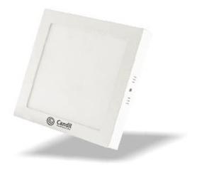 Pack X 4 Panel Plafon Led Aplicar Cuadrado Blanco 18w Candil
