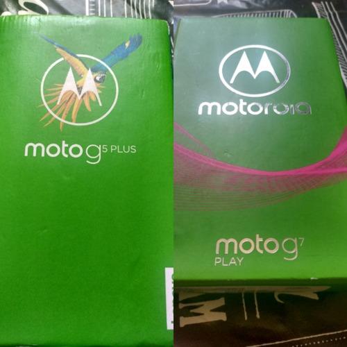 2 Celulares - 1 Moto G5 Plus E 1 Moto G7 Play Desbloqueados