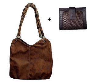 Bolsa Feminina Kit Com 2 Bolsas Grande Media E Carteira Novo