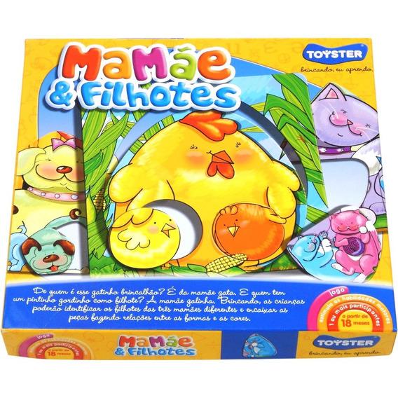 Jogo Mamãe E Filhotes 3 Cartelas 12 Peças Toyster 1618