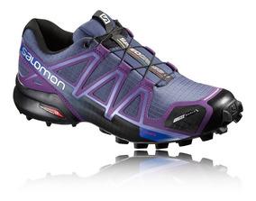 Tênis Salomon Speedcross 4 Cs Azul E Roxo Feminino Promoção