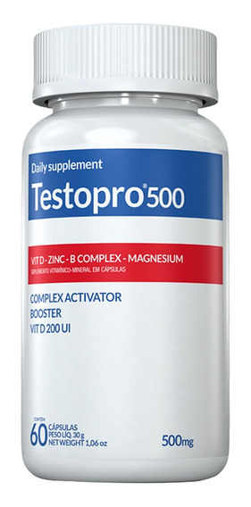 Suplemento De Testosterona Testopro 500 Inove - 60 Cápsulas