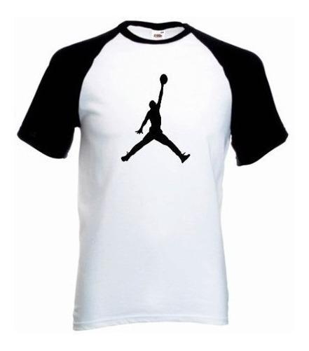Camiseta Raglan Jordan Manga Curta Camisa Jordan