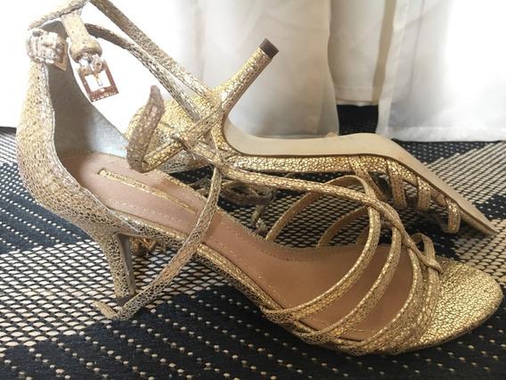 Sandália Dumond Dourada Nº38