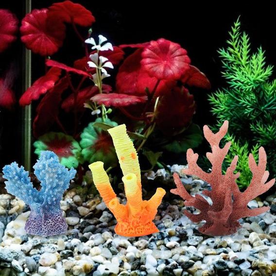 Aquário Plantas Ornamentos Aquário Peixe Tanque Artificial