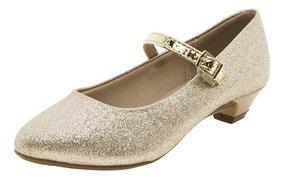 Sapato Infantil Feminino Dourado Molekinha - 2166414