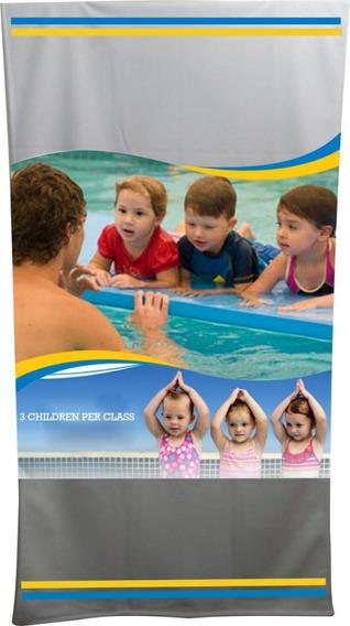 Toalha Banho Escola De Natação Kit2 Und.personaliz. Estamp.
