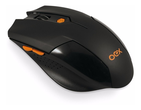 Mouse Gamer Vertex Oex Ms400 - Wireless - 1600dpi - 6 Botões