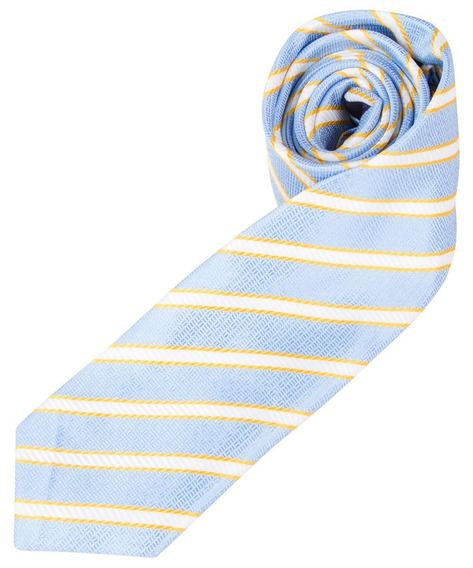 Gravata Colombo Azul Listrada 43300 - Cor Azul