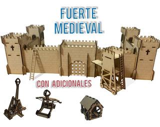 Fuerte Medieval Fibrofacil Mdf - Castillo Para Soldaditos