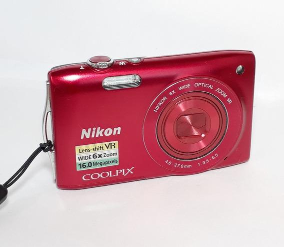 Câmera Fotográfica Nikon Coolpix S3300 No Estado