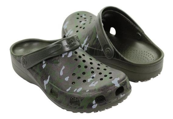 Sapato Crocs Unissex Antiderrapante Camuflado Para Pescaria