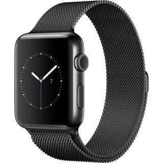Pulseira Milanese Para Apple Watch 42mm Aço Inoxidavel Preta