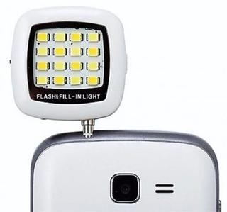 Flash Externo Para Selfie Com 16 Leds Para Celular, Tablet