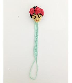 Portachupetes Tejido Al Crochet Frida, Unicornio