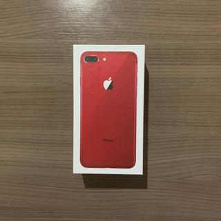 Caixa iPhone 8 Plus Vermelho Red 256gb + Manuais