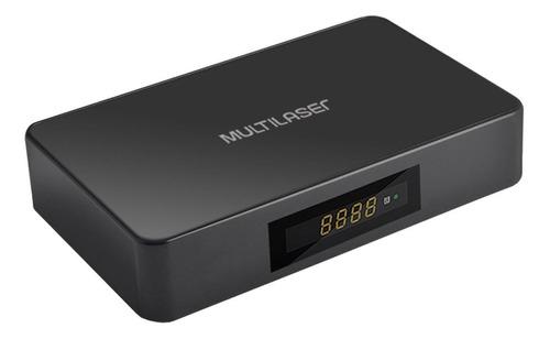 Multilaser Smart TV Box Plus PC001  Full HD 8GB preto com memória RAM de 1GB
